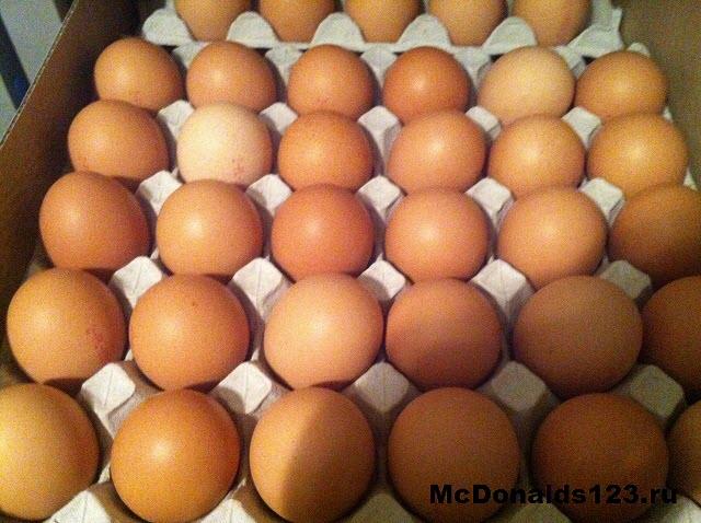 Куриные яйца в Макдональдс