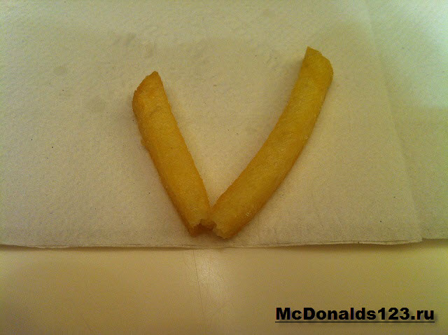 Соломинка картофеля фри