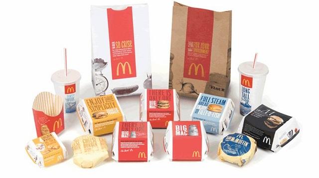 Глобальный редизайн упаковок Макдональдс, 2008 год