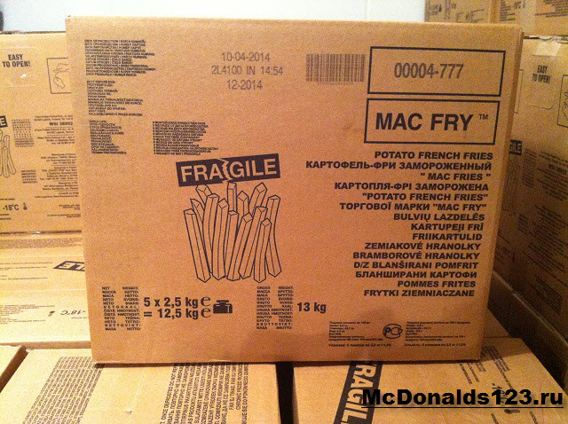 Картофель фри в Макдональдс