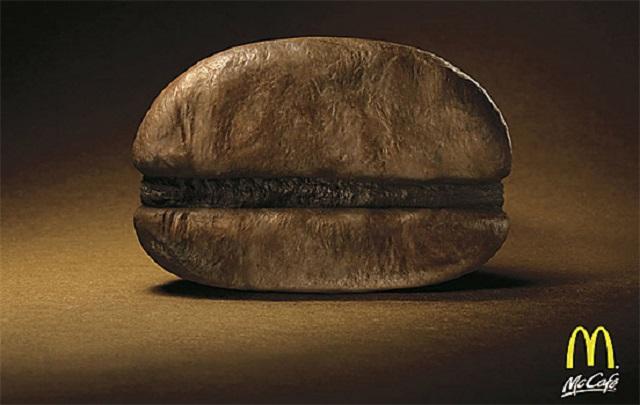 реклама МакКафе - кофейное зерно