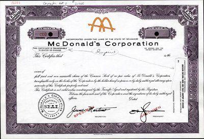 Акция Макдональдс 1965 год