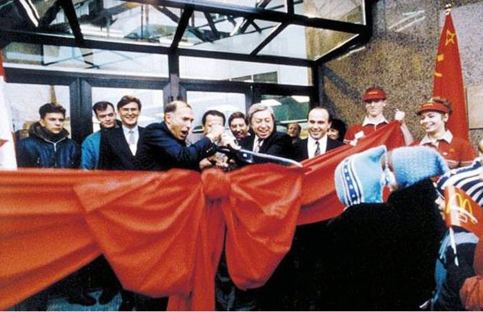 Открытие первого Макдональдс в Москве