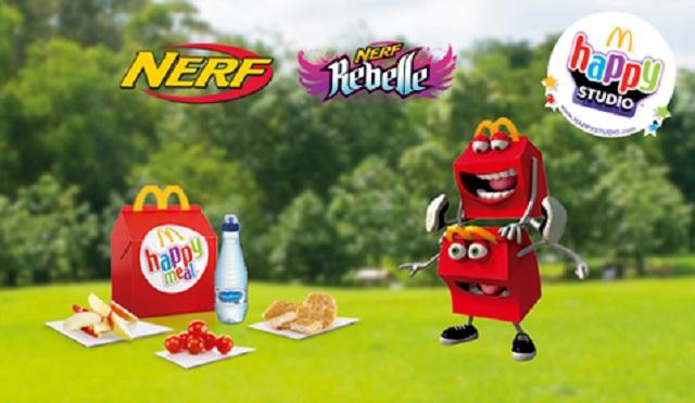 Nerf и Nerf Rebelle в Хэппи Мил