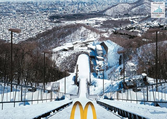 Реклама Макдональдс на олимпиаде в Турине
