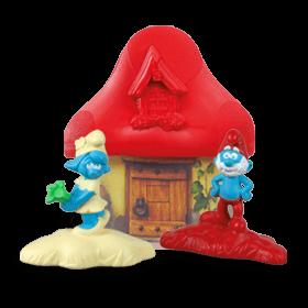 Красный домик со Смурфиками